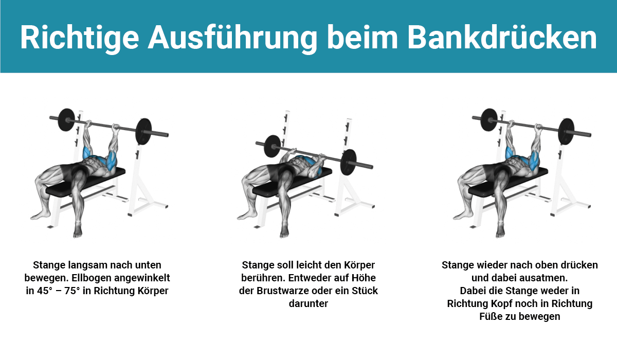 Bankdrücken ausführung