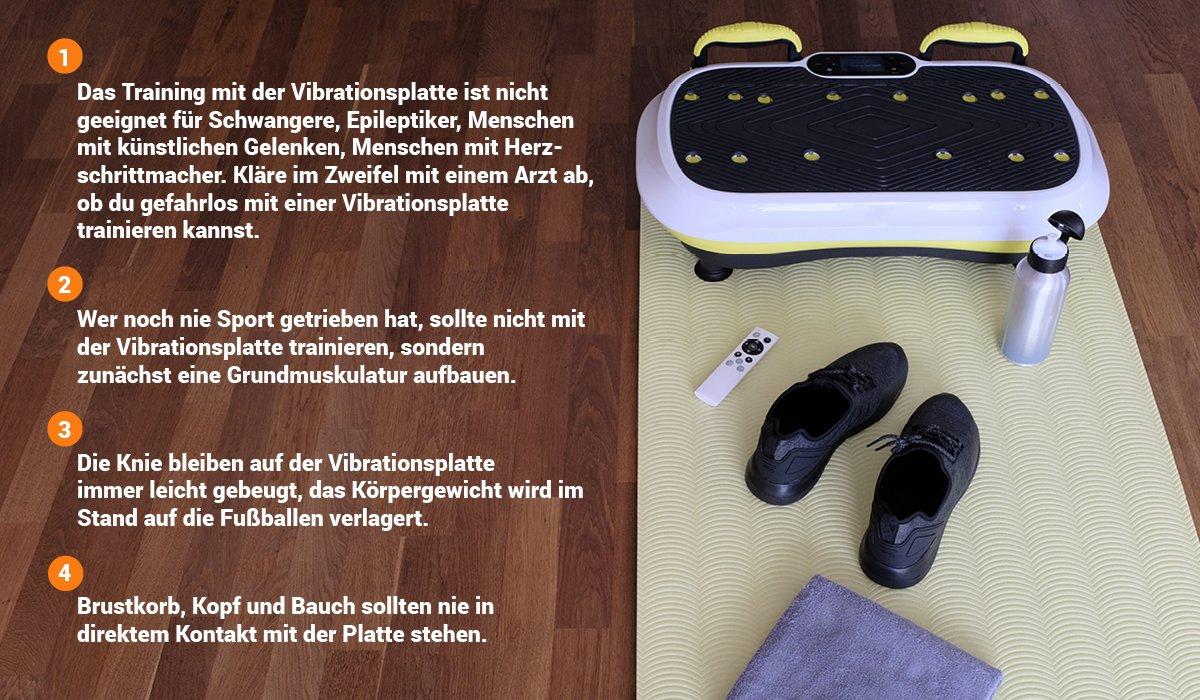 Vibrationsplatte: Fehler beim Training vermeiden!