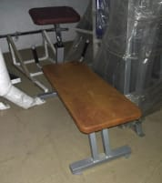 Proxomed Abdominal Bench, Silver, Brown Cushions, Used