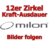 Kraft-Ausdauer Zirkel von Milon, 12 junge Fitnessgeräte - 6 Cardiogeräte und 6 Kraftgeräte, Gehäuseoptik in Aluminium und Carbon, gebraucht - überholter Zustand und NEUE Polster