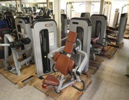 Komplette Fitnessstudio Einrichtung - Gerätepark mit über 45 Kraftgeräten - Danksport S-Line Set mit 45 Fitnessgeräten & Zubehör, Ausstellungsgeräte vergleichbar mit Gym80, Nautilus, Star Trac, Precor, Life Fitness oder TechnoGym
