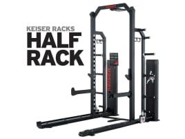 Keiser HALF RACK - kombiniert Drucklufttechnologie mit Freigewichtstraining - direkt vom Hersteller!