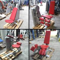 HBP 8er Fitness-Zirkel, Active-Line, 8 Geräte, Polster Rot, Lackierung Silber, gebraucht