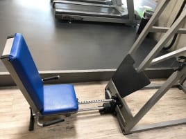 Künzler leg press seated, 250kg weight stack, silver, used