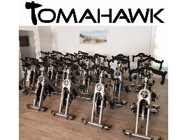 Tomahawk Indoor Cycle S-Series, with Display Computer, Silver, Used - 15 Pieces