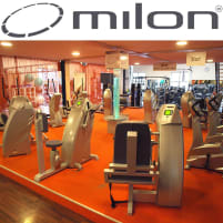 Milon strength endurance training circuit, aluminium, 12 machines, good blue cushions, maintained, used