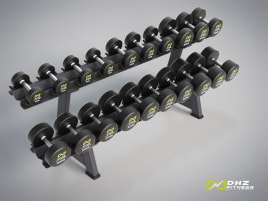 DHZ Fitness Dumbbell Set Rubberized 2.5 - 40 kg - directly from the manufacturer