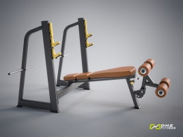 DHZ Fitness Hantelbank OLYMPIC DECLINE BENCH Evost I - direkt vom Hersteller