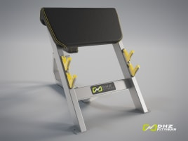 SEATED PREACHER CURL Evost II - DHZ Fitness Scott Curl Bench NEW