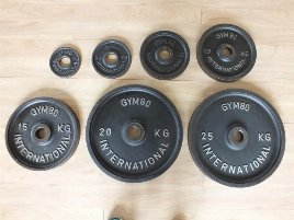 Weight Plates gym80 - new and used