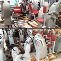 Milon strength endurance training circuit 12 machines, from 2010, incl. accessories and software, red cushions, used - refurbished condition