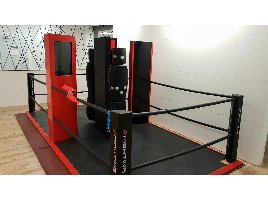 E-fighting double station, boxing ring as new!