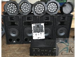 Aerobic Stereo Equipment Lights Mixer Subwoofer
