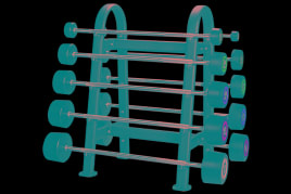 Rack for 10 barbells in black NEW! TOP QUALITY!!