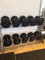 Dumbbell Rack Sygnum + Dumbbell Set Rubberized gym80