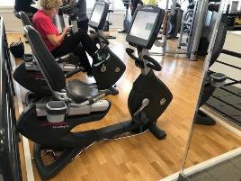Life Fitness Recumbent Bike neues Modell