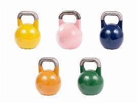 Gymstick Competition Kettlebell Set, 8 kg - 12 kg - 16 kg - 20 kg- 24 kg - 28 kg