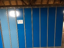 84 used lockers, blue - for sale urgently