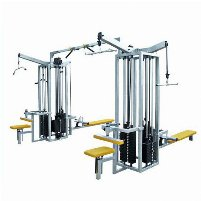 8 Stations Tower Cablecross Crossover Lat Pulldown Rowing Cable Pull Biceps Triceps Multi Tower