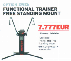 Offer: Keiser FUNCTIONAL TRAINER Free Standing Mount incl. Compressor and Accessories
