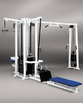 HBP 5 Station Tower incl. Cablecross Cossover Chin-Up Lat Pulldown Rowing Tower