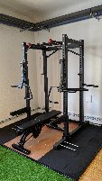 BARBARIAN POWER CAGE - POWER RACK - INCL. DIP BARS MULTICLIMB PULL ROD