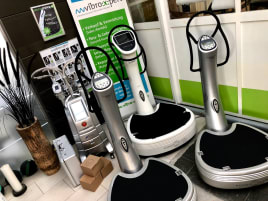 Vibrationstrainer Power Plate Pro5 2008, netto 1900€ in silber