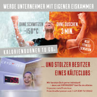 Mega deal!!! Cryosizer cold sauna concept for studios and practices - now save 5.000,- EUR - only until 14.06.19