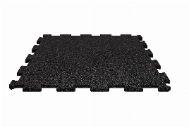RUBBER MAT | FITNESS FLOOR | RUBBER FLOOR | BLACK | PREMIUM