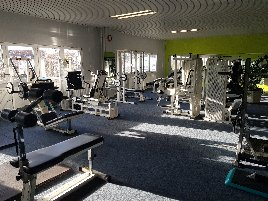 Technogym equipment over 30 strength machines 4 stations tower multipress cablecross lat pull rudder pull adjustable leg press and much more.