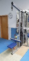 L K, lat pull, good condition, 130kg plug weight ,