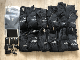 3 x Visionbody cable free EMS system with 15 suits / new price over 25.000 €