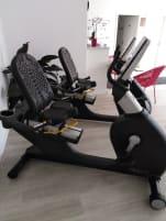Crosstrainer, ergometer and a recumbent bike