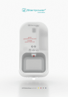 Steripower white Edition - touchless handdisinfection