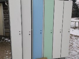 Cloakroom cupboards- min.30 compartment- continuous- good condition, Gantner lock