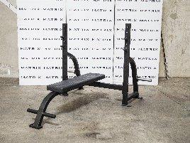 Matrix Fitness   G1-Serie Olympic Flachbank (G1-FW163)   Black Matte   2015