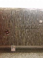 114 Hanging lockers with two keys each (sheet metal with veneer decor)