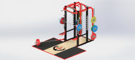 Power Rack - Include Floor - Indoor - Zinc Powder Coating