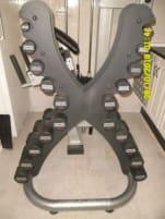 Hammer Strength Hantelsatz inkl. Life Fitness Designständer, sehr selten, NP über 2500,- USD