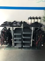 Training vests incl. wiring harness used, some seams defective