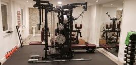 Titan T1x mit Gewichten und Zubehör