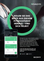 Advagym by Sony - Das Digitalisierung System für Ihr Fitnessstudio