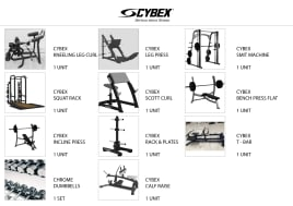 Fabulous Condition - Complete Fitness Club Equipment's - Techno gym - Cybex