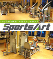SportsArt Kraftgerätepark - 20 power tools in a set, status series, incl. complete upholstery in desired color! used, overhauled condition