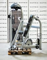 Matrix Fitness | Aura Series | Chest Press dual, converging (G3-S13) from studio resolution | Iced Silver | 2016