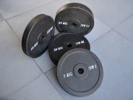 100kg Set | Bumper Plates aus Vollgummigranulat | von 5-kg-25kg  MEHR ALS NUR GEWICHTE!