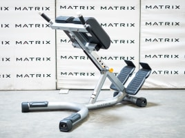 Matrix Fitness | Magnum Series | 45 Degree Back Extension (MG-A93) from studio resolution | Iced Silver | 2017