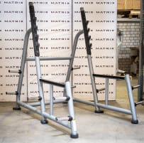 Matrix Fitness | Magnum Series | Squat Rack (MG-A81) from studio resolution | Iced Silver | 2016