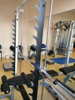 Bench press rack plus Leg training Body Solid