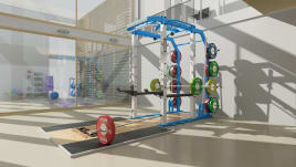 Premium POWER RACK Full-Rack inkl.Plattform - Naomi Gewichtheber Plattform